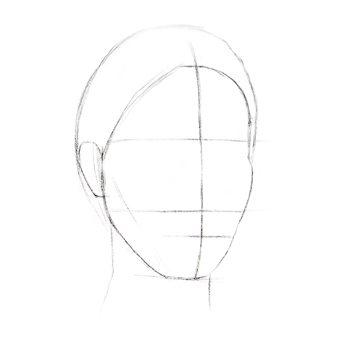 How to Draw a Head - Step 2