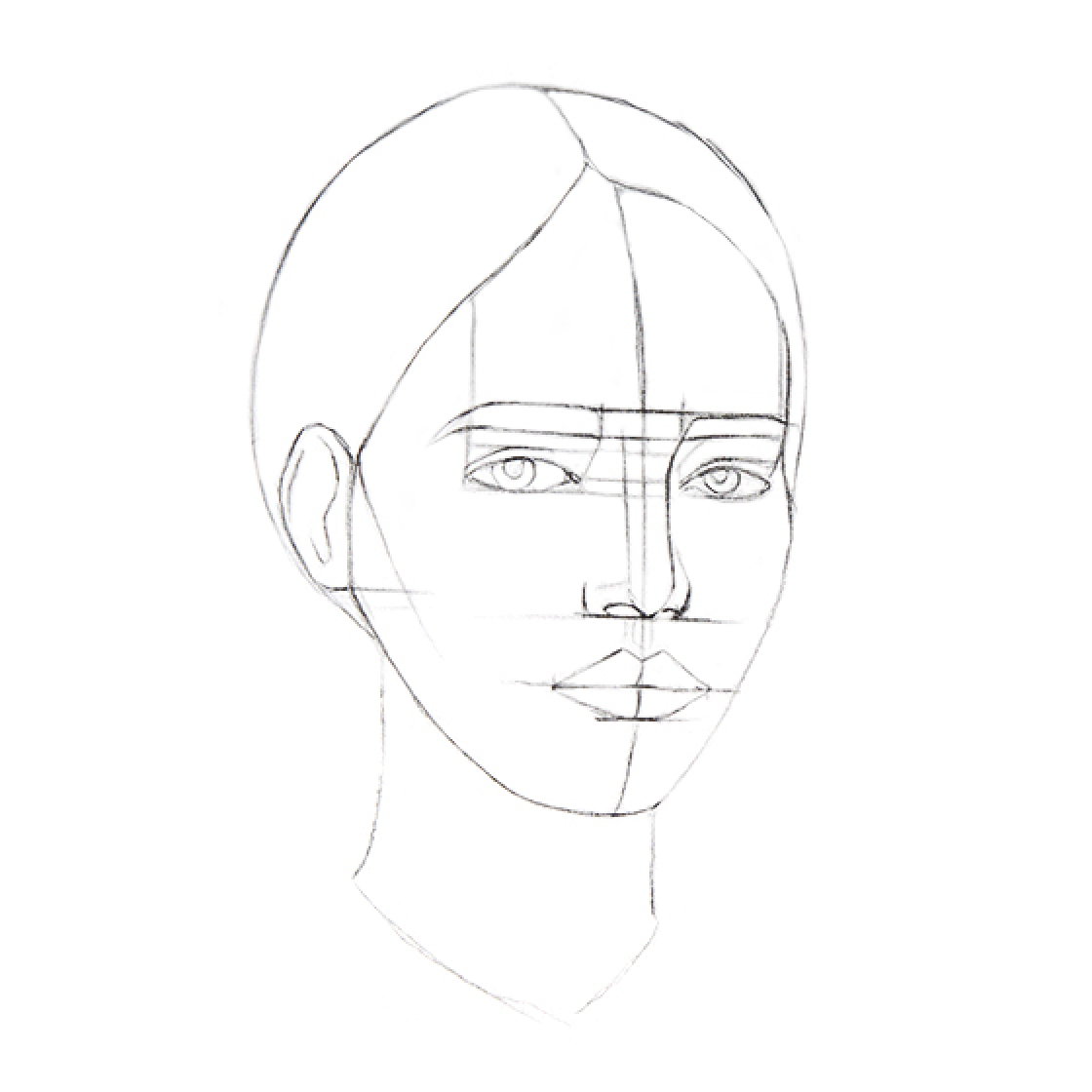 How to Draw a Head - Step 3