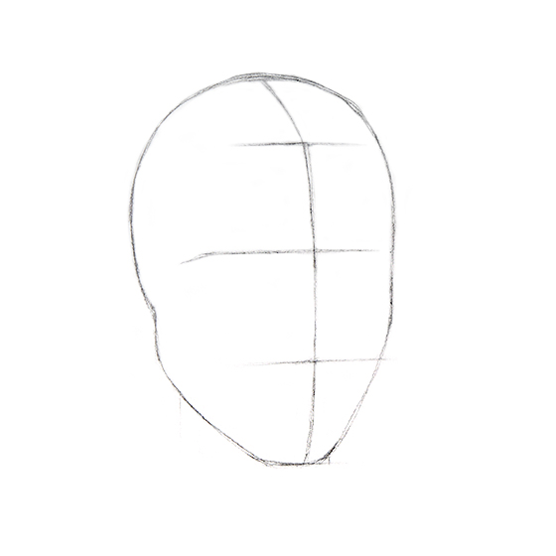 How to Draw a Head - Step 1