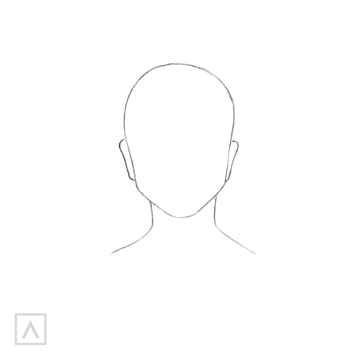How to Draw Hair with Bangs - Step 1