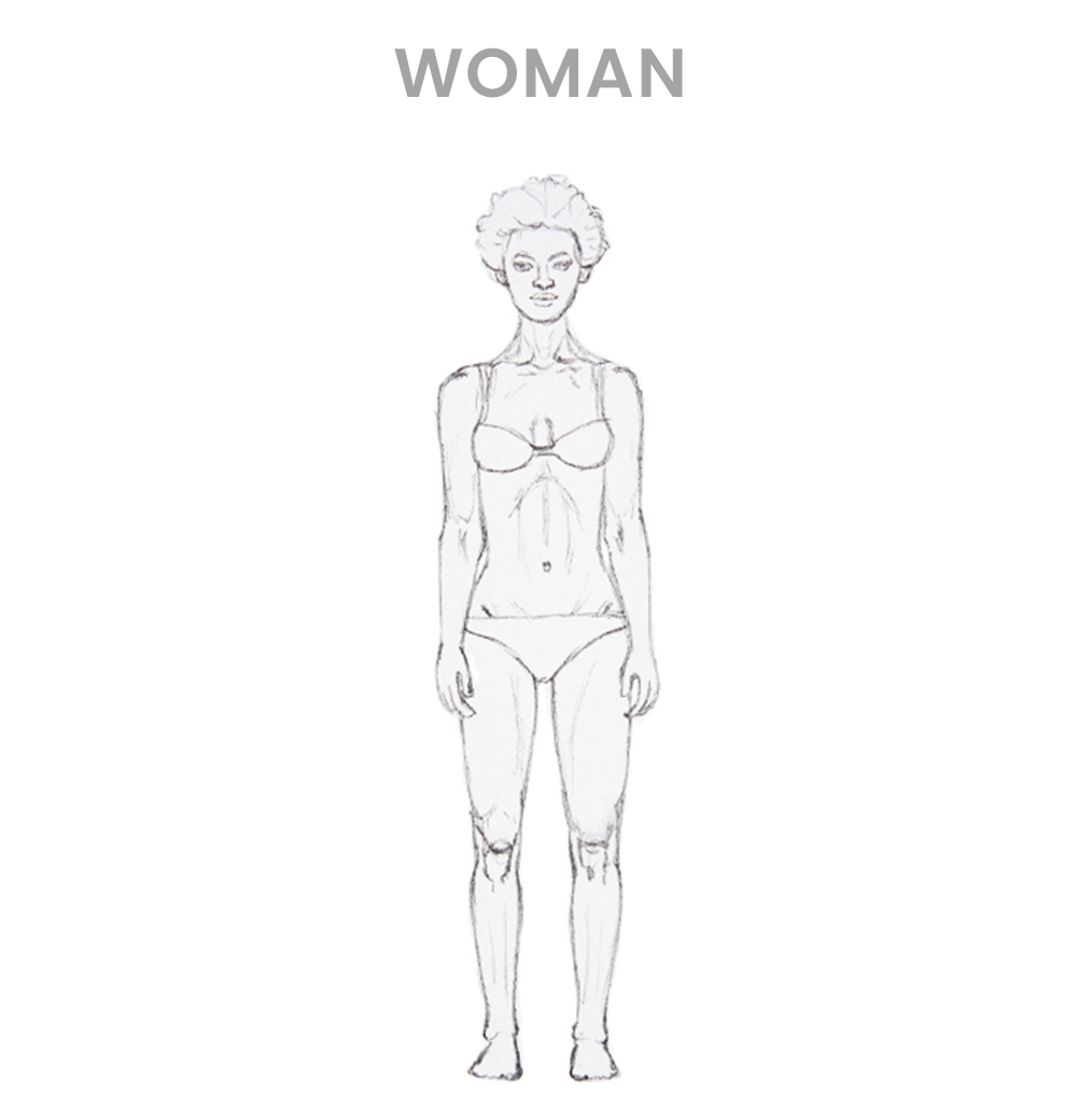 How to draw a woman - Step 4