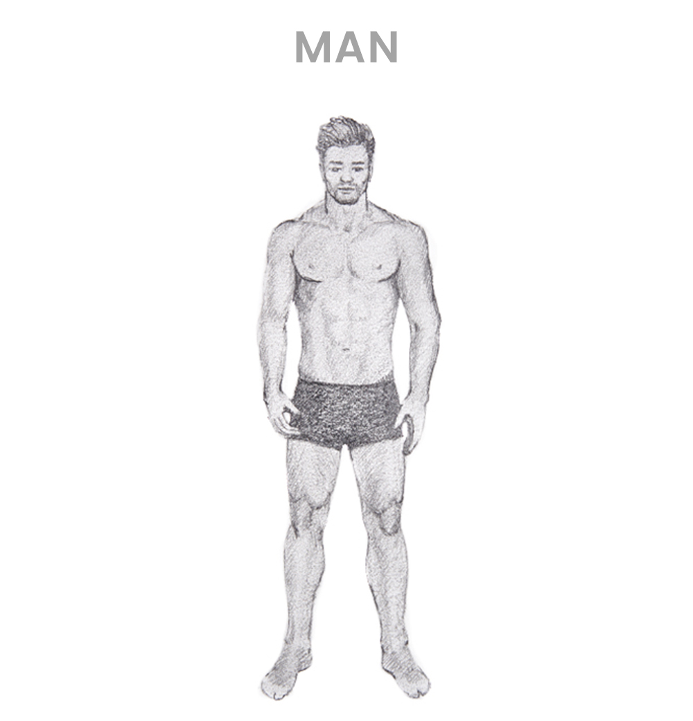 How to draw a man - Step 5
