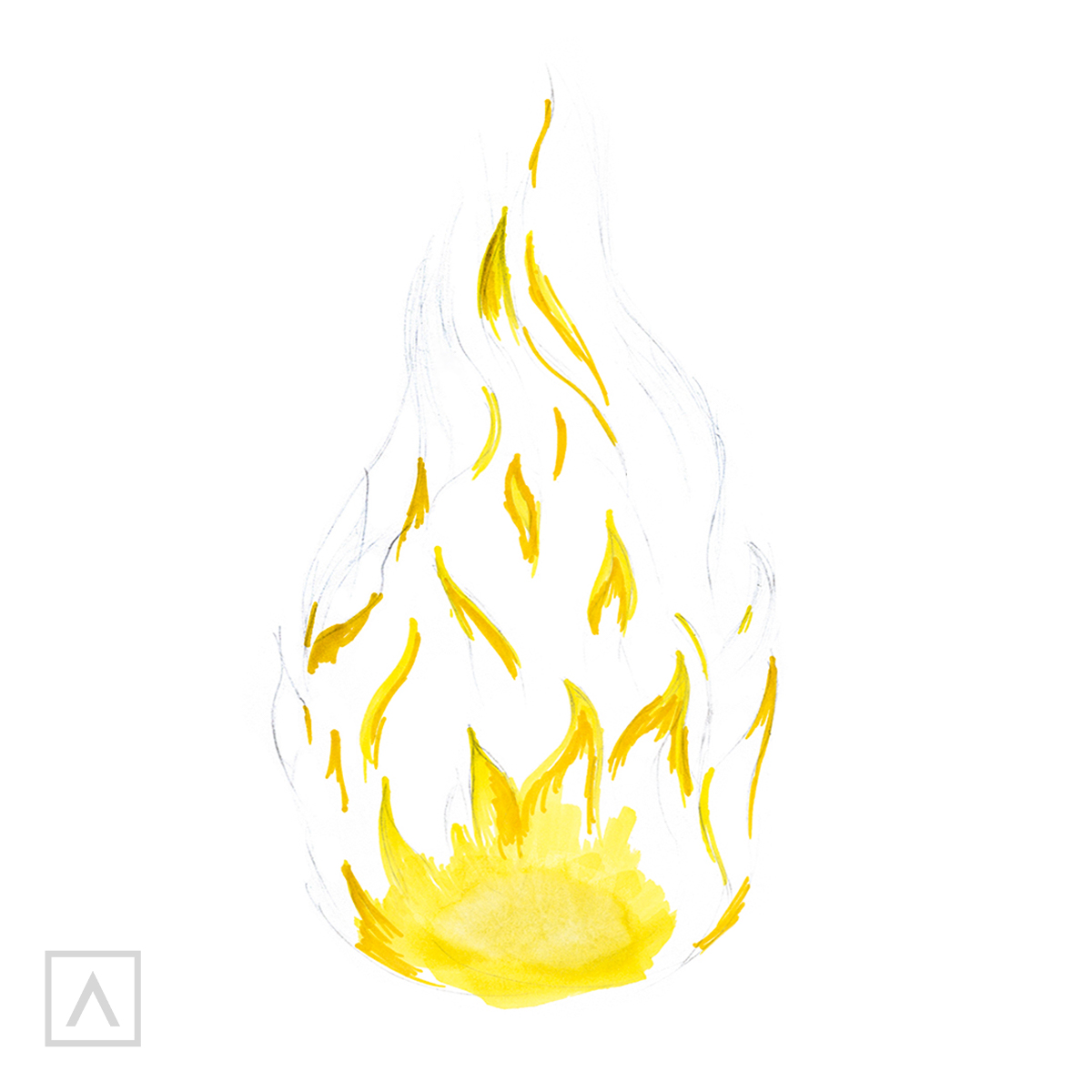 How to draw flames - Step 4