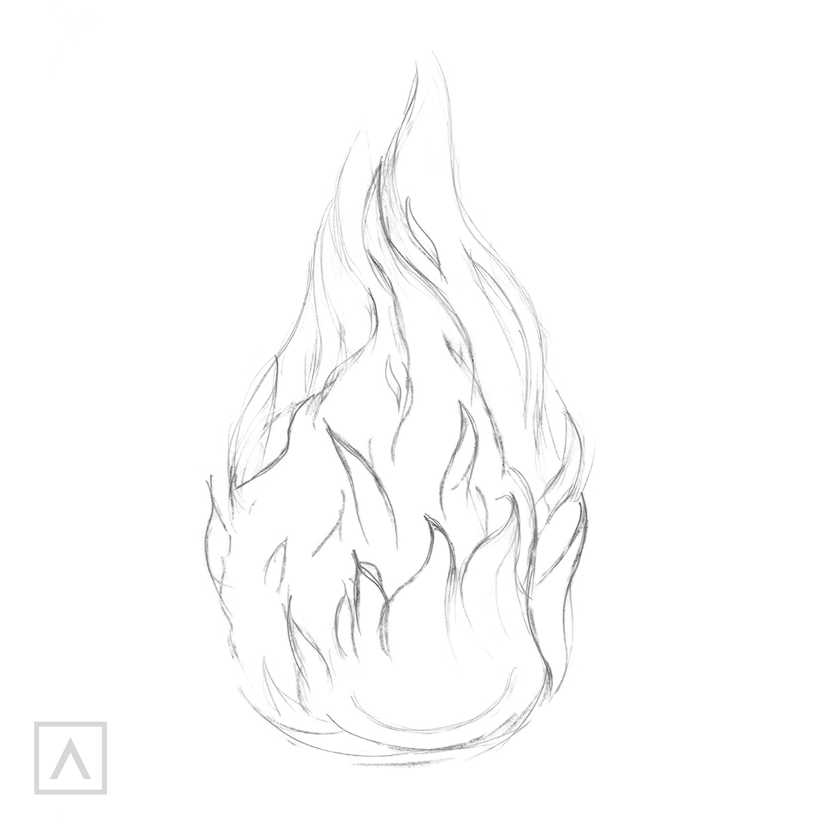 How to draw flames - Step 3