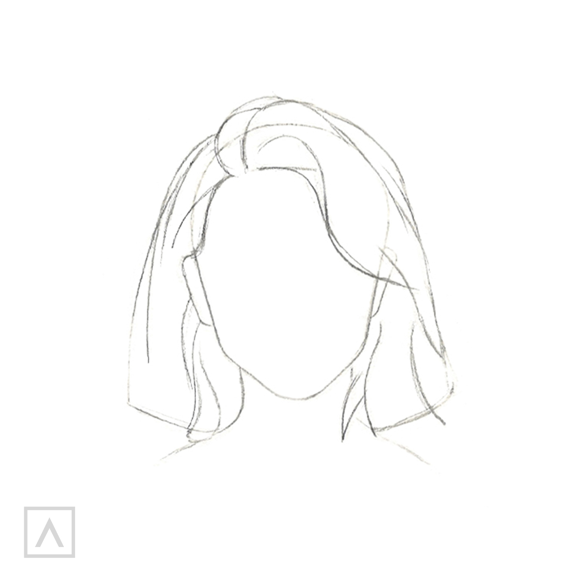 How to Draw Short Hair - Step 4