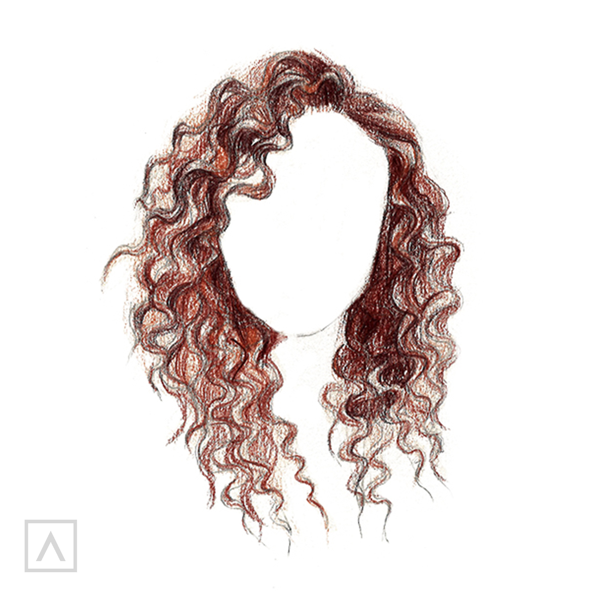 How to Draw Curly Hair - Step 11