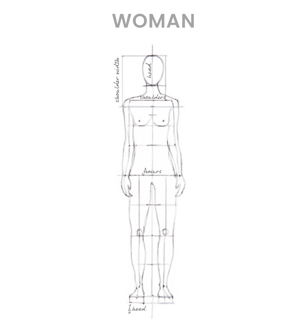 How to draw a woman - Step 2