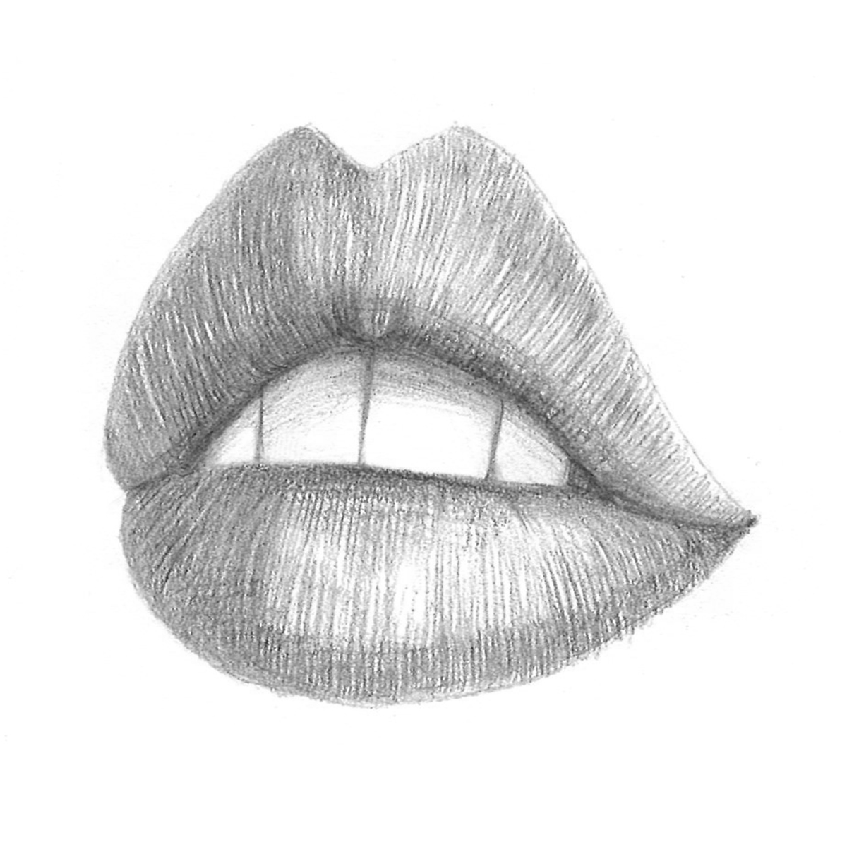 how to draw lips from the side