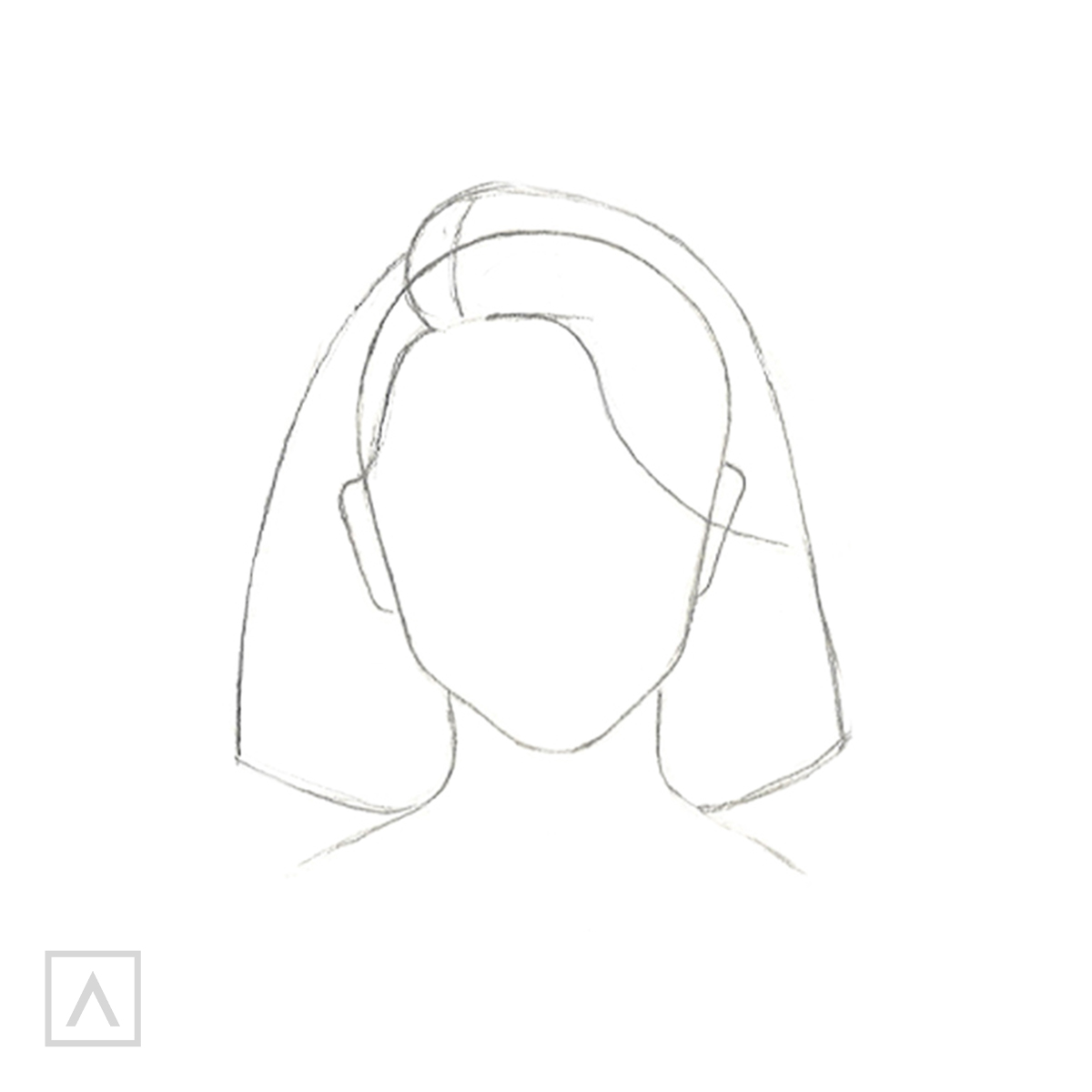 How to Draw Short Hair - Step 3