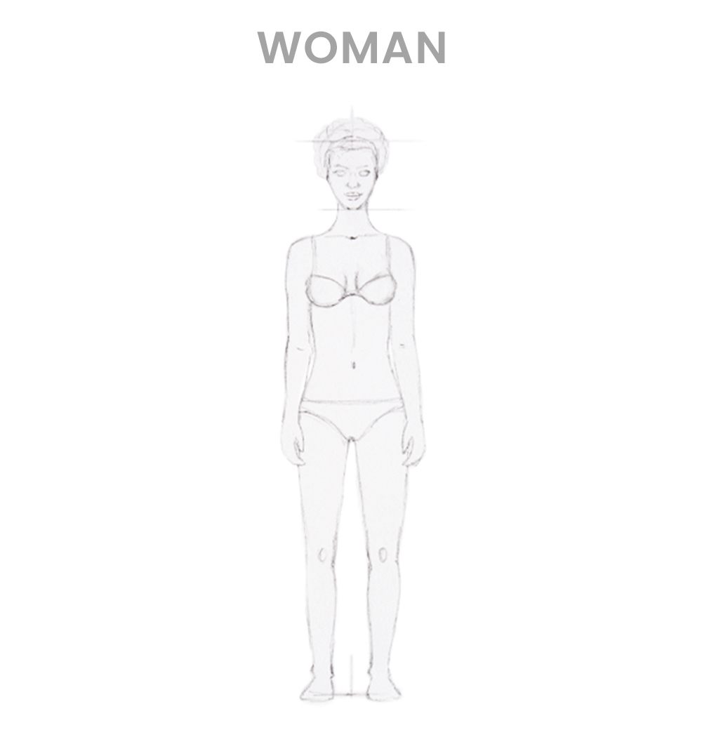 How to draw a woman - Step 3