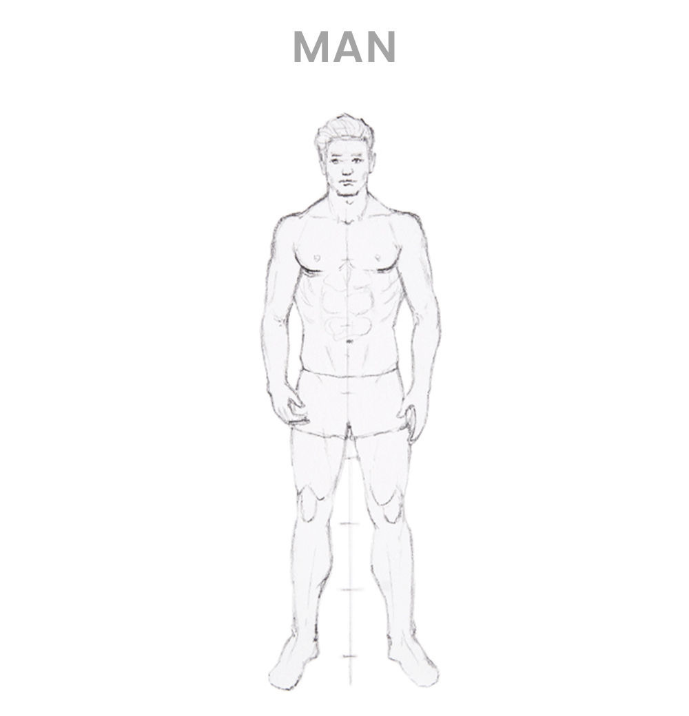 How to draw a man - Step 4
